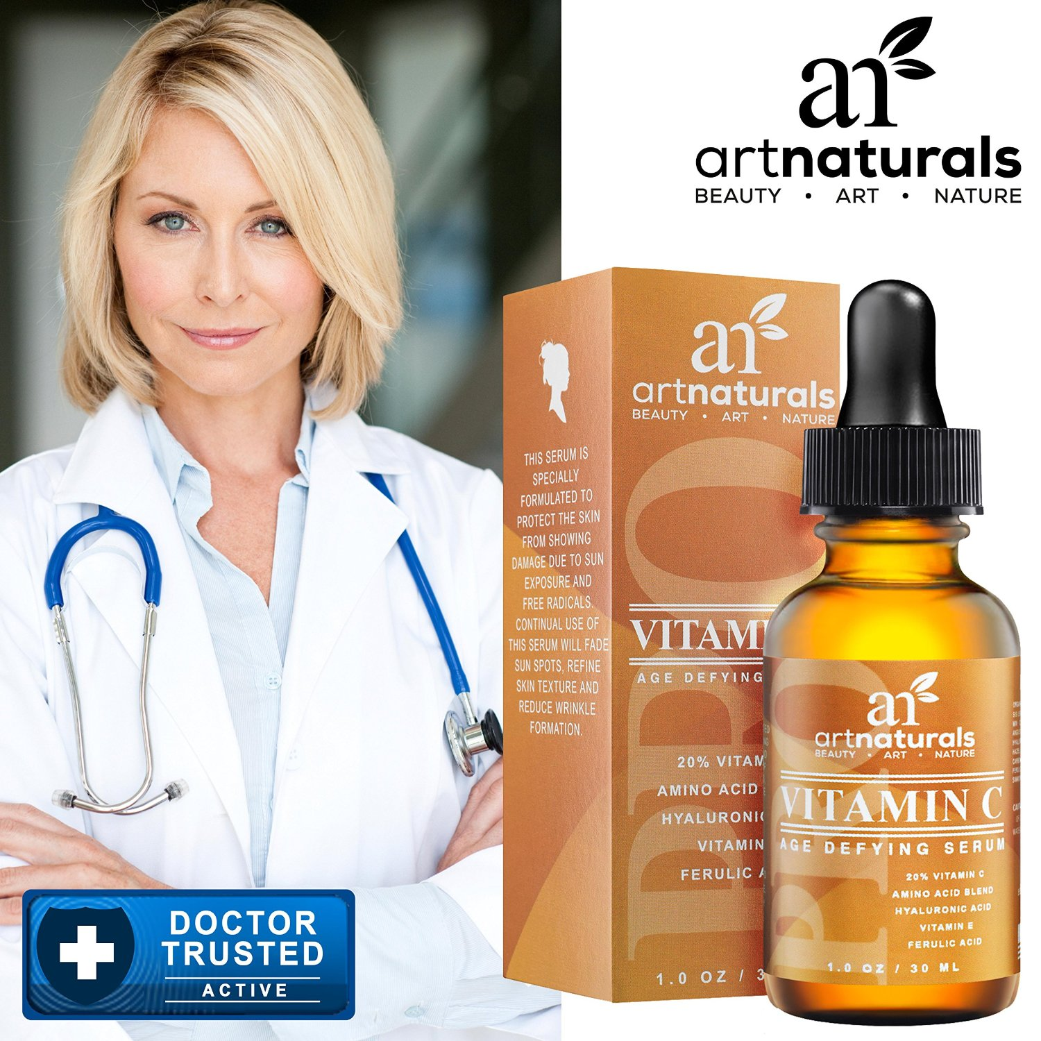 Enhanced Vitamin C Serum with Hyaluronic Acid
